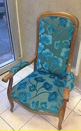 aménagement intérieur réfection d'un fauteuil ancien