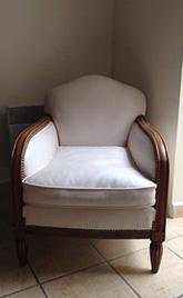 réfection d'un fauteuil cossu