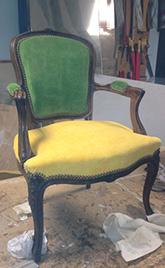 réfection d'une chaise en bois