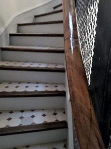 Avant travaux de réfection de cage d'escalier