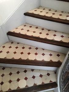 Après travaux de réfection d'escaliers